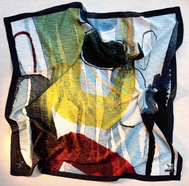 Deborah Bird, Crepe de Chine scarf no.48