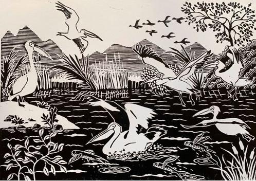 Frank Bingley, Pelican Place, print