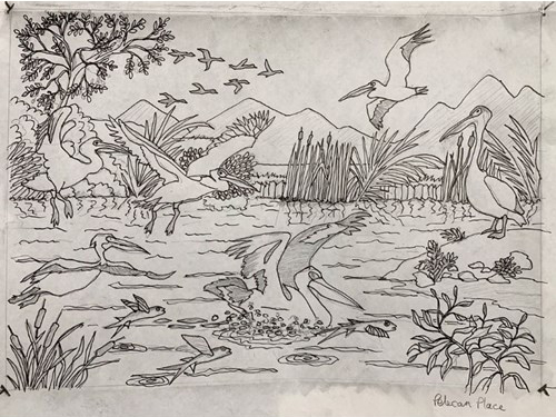 Frank Bingley, Pelican Place sketch