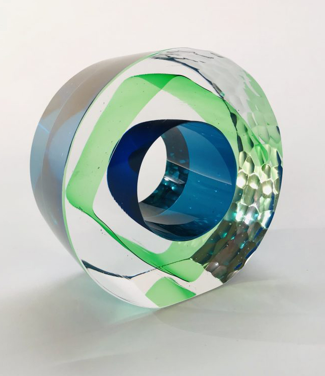 Graeme Hawes - Blue & Green Geo Glass