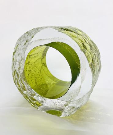 Graeme Hawes, Olve and Gold cut slice glass