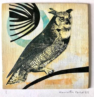 Henrietta Corbett, Owl with Blue Moon