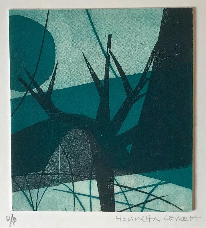 Henrietta Corbett, Trees and Bridges, original print