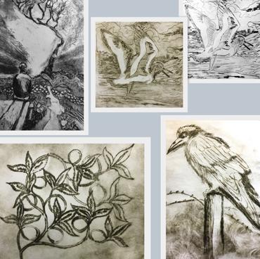 Jo Sheppard student etchings