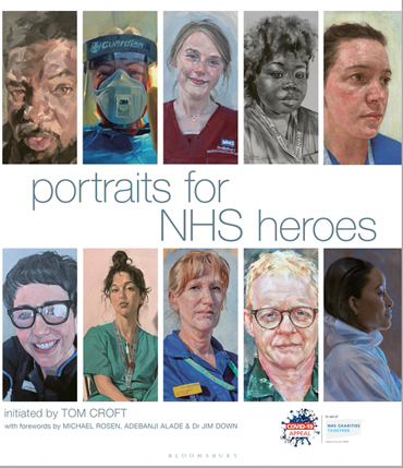 Portraits for NHS Heroes - book front