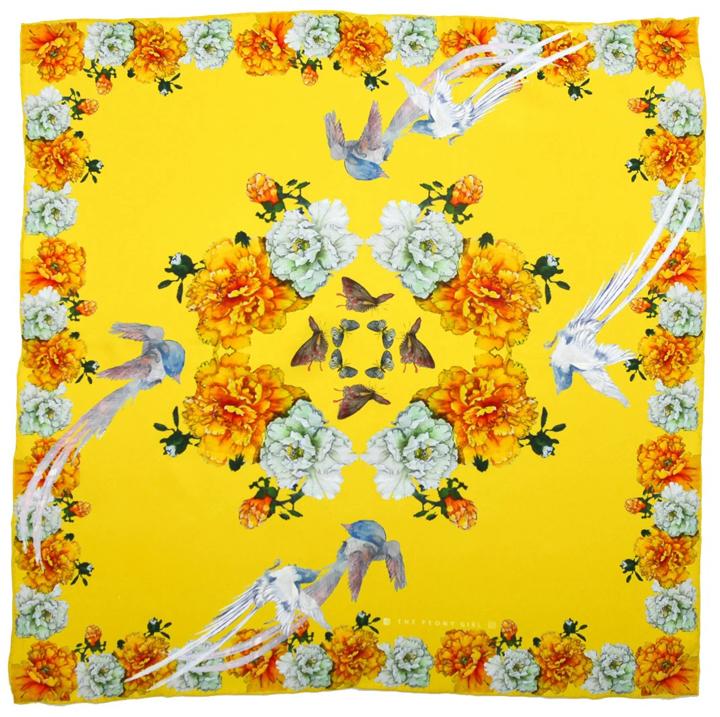 Siyuan Ren, silk scarf