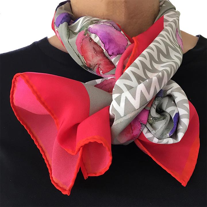 vivienne Cawson, silk scarf