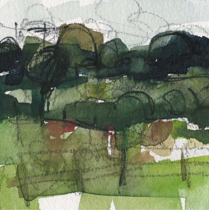 Emma Ftizpatrick, Tur Langton, watercolour sketch