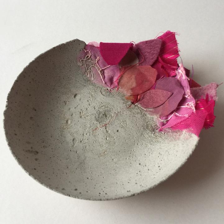 Ruth Singer, cloth & concrete bowl