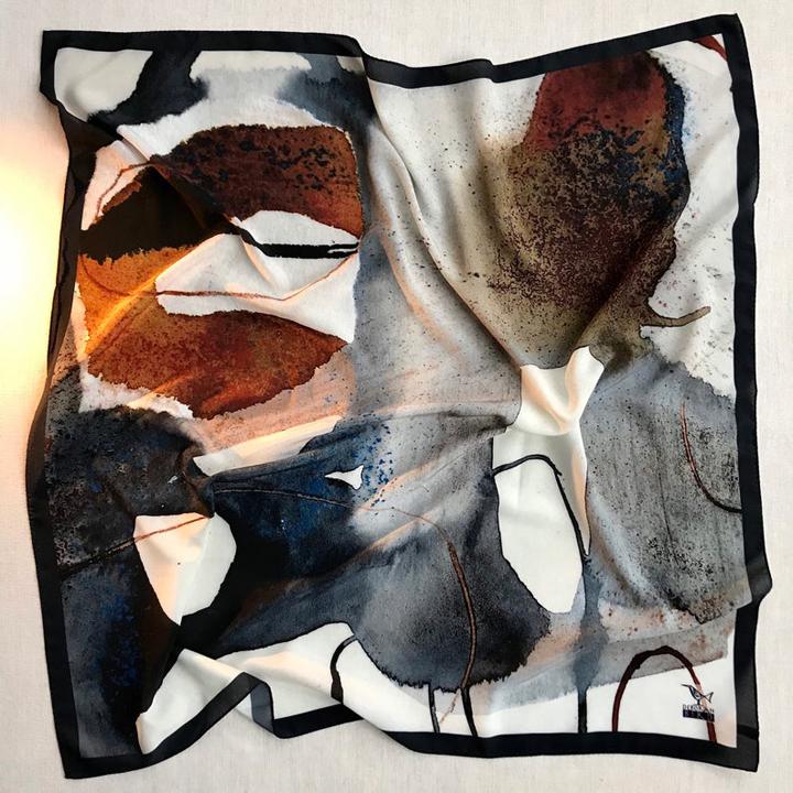 Deborah Bird, Large crepe de chine scarf no.20