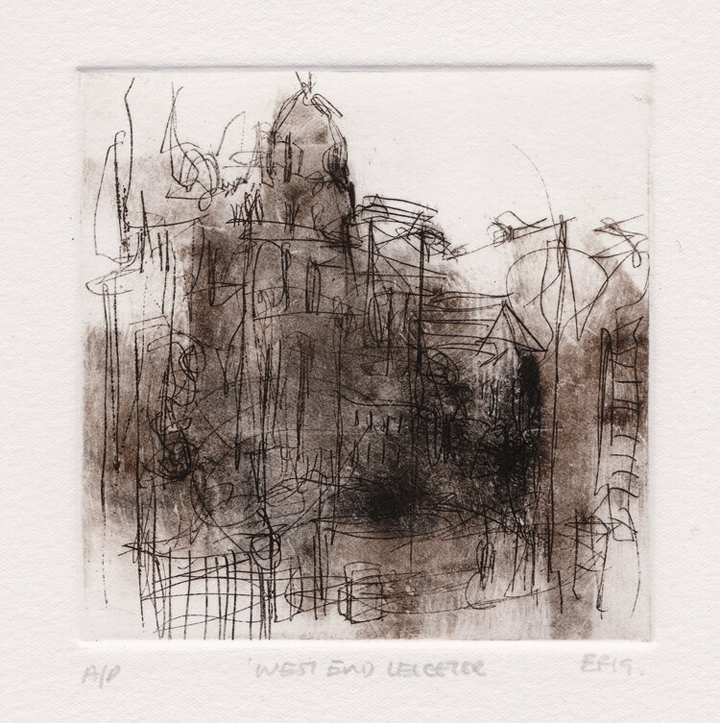 Emma Fitzpatrick, Westend Leicester, etching