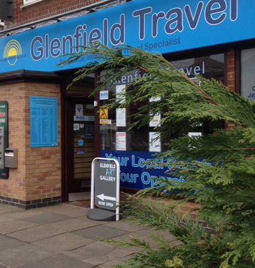 Outside Glenfield Art Gallery, Glenfield Travel