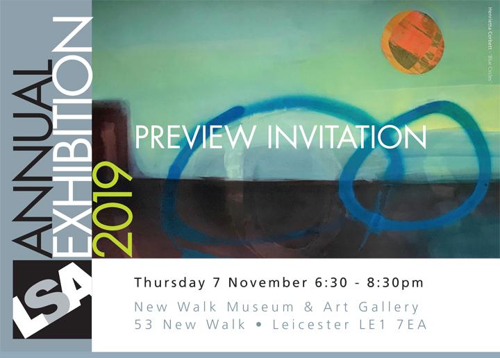 Annual Exhibition Preview Invite