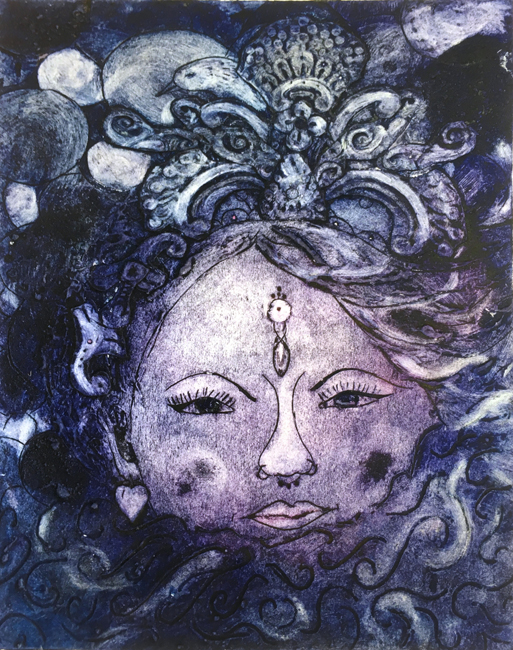 Collagraph by Jane Sunbeam