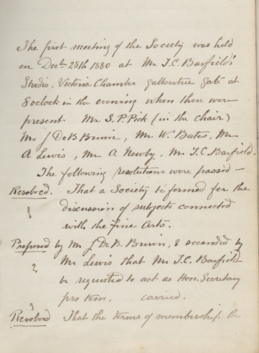 Minutes of LSA committee meeting 1881