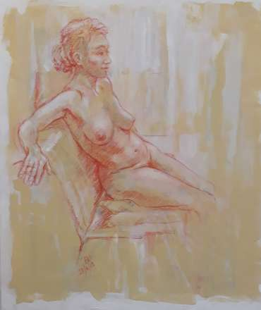 Thumbnail image of Seated Model by Alan Willey