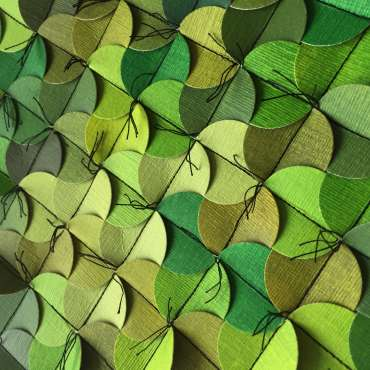 Thumbnail image of Multiples in Green (detail) by Amy Bonsor
