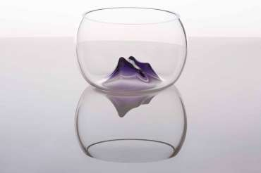 Thumbnail image of Vessel with Purple Sculptural Element by Angie Packer