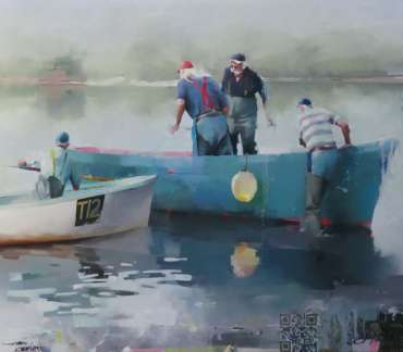 Thumbnail image of Fishermen, Teign Estuary by Chris Macauley