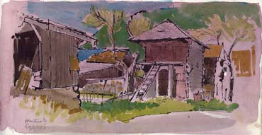 Thumbnail image of French Alps sketchbook page by David Easton