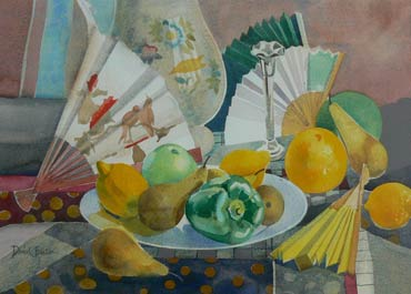 Thumbnail image of Still Life with Fans by David Easton