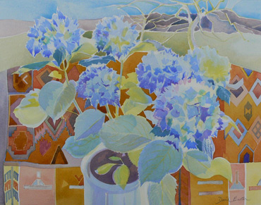 Thumbnail image of Hydrangea & Patterns by David Easton