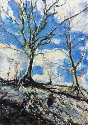 Thumbnail image of Sparsholt, Winter by Deborah Ward