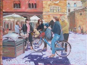 Thumbnail image of Italian Cyclists by Frank Bingley