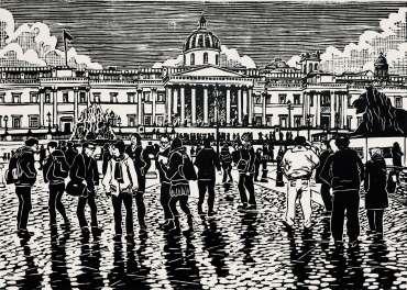 Thumbnail image of People at Trafalgar Square 2 by Frank Bingley