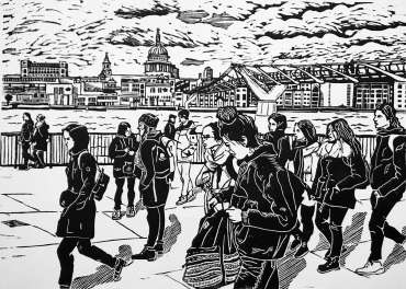 Thumbnail image of Southbank People by Frank Bingley