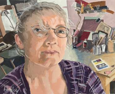 Thumbnail image of Tilley in her Studio by Frank Bingley