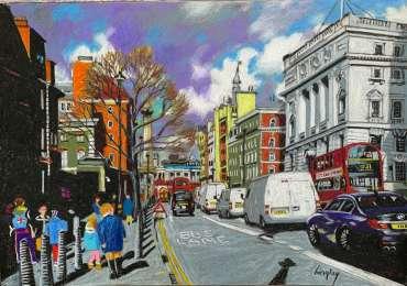 Whitehall, London by Frank Bingley