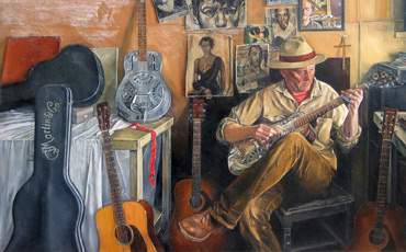 Thumbnail image of Guitar Man Version 3 by Geoffrey Beasley