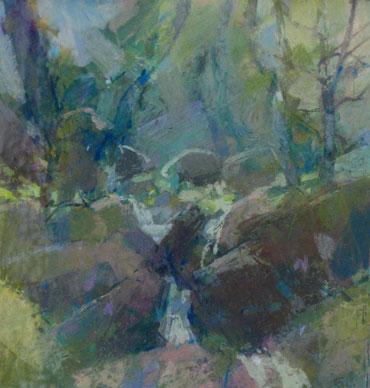 Landscape with Rocks by Geoffrey Lee