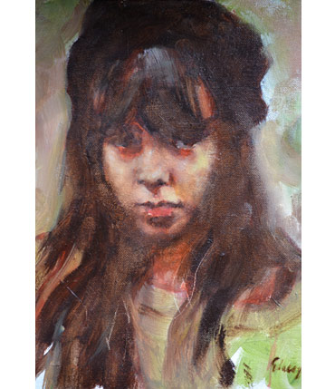 Thumbnail image of Portrait of Girl by Graham Lacey