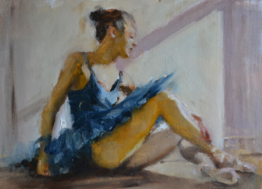 Thumbnail image of Ballerina in Blue by Graham Lacey