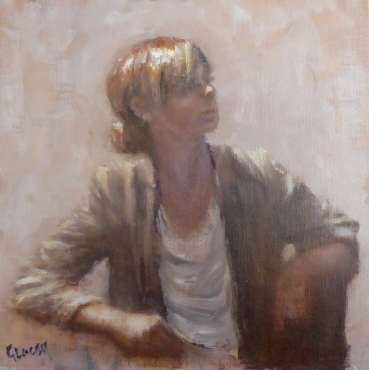 Girl Sitting by Graham Lacey
