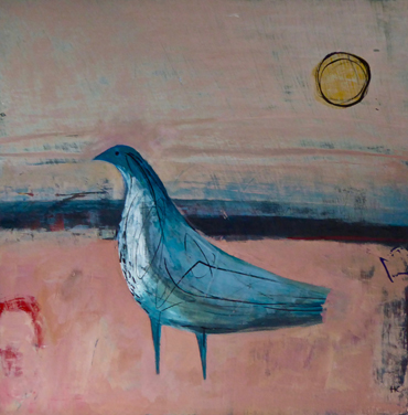 Thumbnail image of Blue Bird on Pink by Henrietta Corbett
