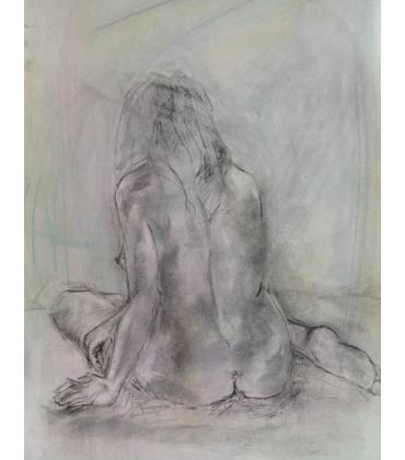 Seated Nude by Jacqui Gallon