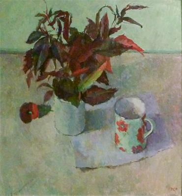 Thumbnail image of Virginia Creeper and a Mug by Jennifer Percival