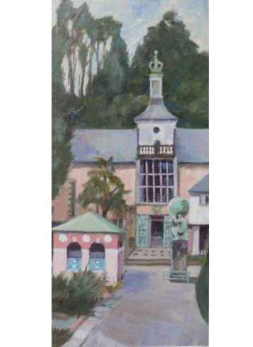 Thumbnail image of Walking in Portmeirion - triptych 3 by John Nixon