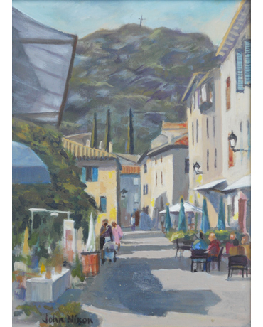 Village in Provence by John Nixon