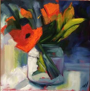Orange Flowers by Judy Merriman