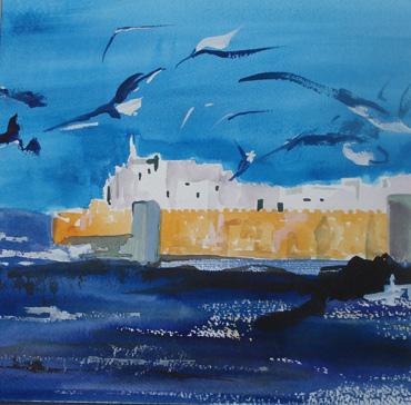 Seagulls Assouira by Katie MacDowel
