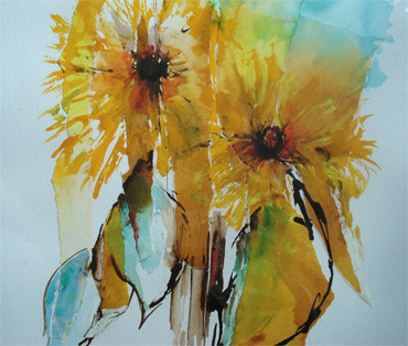 Thumbnail image of Summer Sunflowers by Katie MacDowel