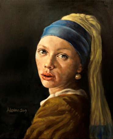 Thumbnail image of Girl with a Pearl Earring by Kelvin Adams