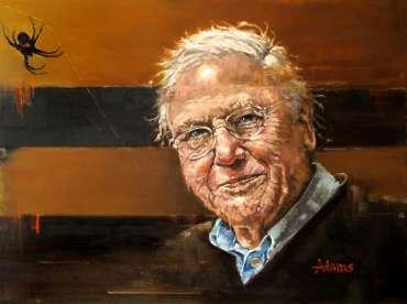 Sir David Attenborough by Kelvin Adams