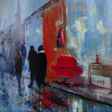 Thumbnail image of Window Shoppers, Leicester by Linda Sharman