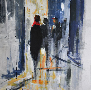 Thumbnail image of Late Night Shoppers, Leicester by Linda Sharman