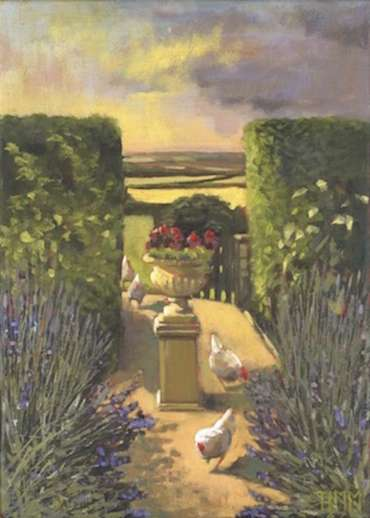 Thumbnail image of Hens in Lavender by Lisa Timmerman